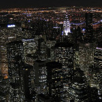 new york pics at night view