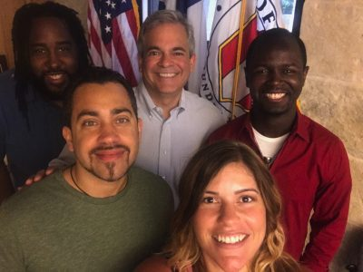 mayor adler and the feedbak team